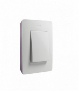 Выключатель Simon серия 82 Detail, белый/пастель розовая