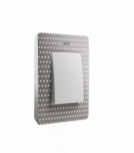 Выключатель Simon серия 82 Detail, горошек/тепло-серый