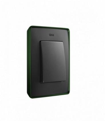 Выключатель Simon серия 82 Detail, зеленый/графит