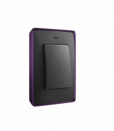 Выключатель Simon серия 82 Detail, фиолетовый/графит
