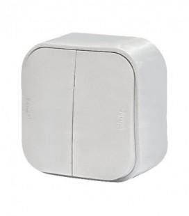 Выключатель двухклавишный Legrand Quteo, белый
