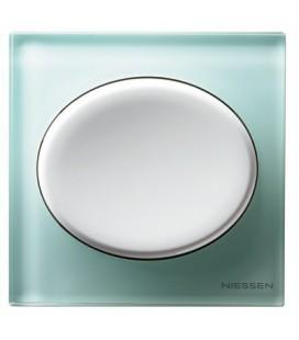 Выключатель в сборе ABB Niessen серии Tacto, лазурное стекло