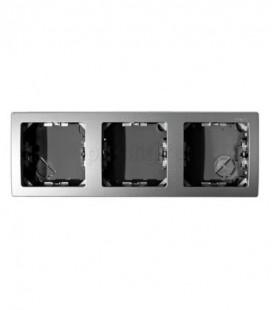 Рамка на 3 поста горизонтальная 75х217 мм для механизмов Simon 73 Loft, графит