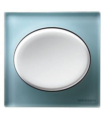 Выключатель в сборе ABB Niessen серии Tacto, синее стекло