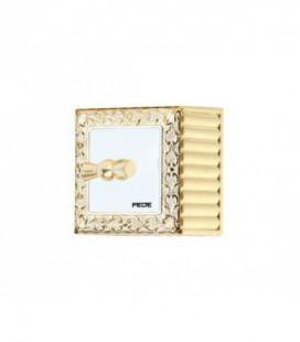 Поворотный выключатель FEDE SAN SEBASTIAN SURFACE, gold white patina