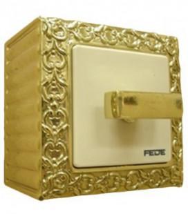 Поворотный выключатель FEDE SAN SEBASTIAN SURFACE, bright gold