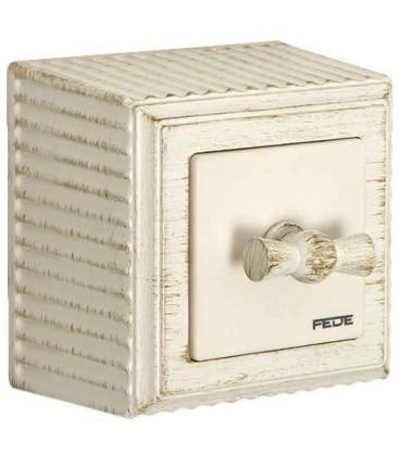 Поворотный выключатель FEDE ROMA SURFACE, white decape