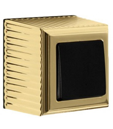 Выключатель FEDE ROMA SURFACE, bright gold/black