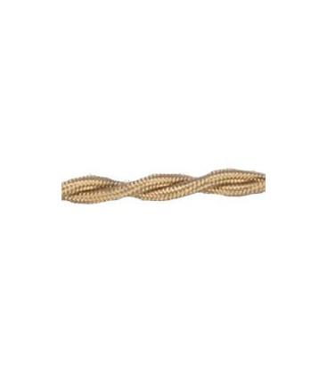 Электрический гибкий кабель FEDE SURFACE, внешняя оплетка шелк, золотой