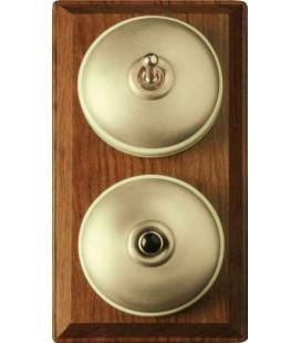 Выключатель и кнопка Llinas серия Record цвет Лоск/Фарфор
