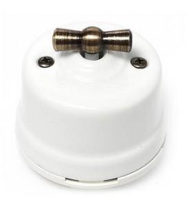 Двухклавишный поворотный выключатель Salvador для наружного монтажа