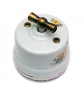 Выключатель поворотный Salvador для наружного монтажа проходной, ромашка