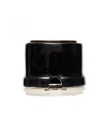 Розетка с заземлением и шторками Salvador для наружного монтажа, черный