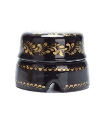 Распаячная коробка Salvador большая черная с золотым цветочным орнаментом