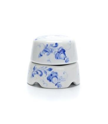 Распаячная коробка Salvador белая с росписью гжельские узоры