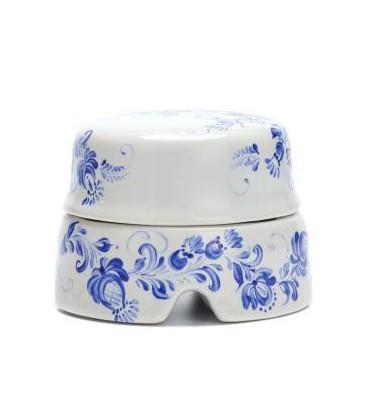 Распаячная коробка Salvador большая белая с росписью гжельские узоры
