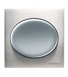 Выключатель в сборе ABB Niessen серии Tacto, натуральная сталь