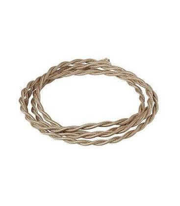 Электрический витой провод Salvador сечением 2х1,5, карамель