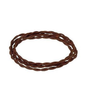 Электрический витой провод Salvador сечением 2х1,5, шоколад