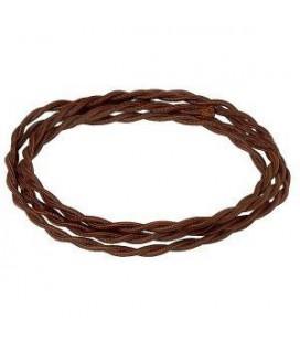 Электрический витой провод Salvador сечением 3х1,5, шоколад