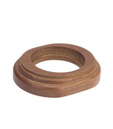Рамка 1 местная овал Salvador, Дуб коричневый с золотой патиной
