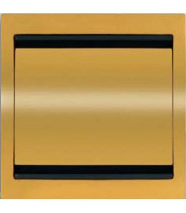 Выключатель одноклавишный в сборе ABB Niessen Olas, золото