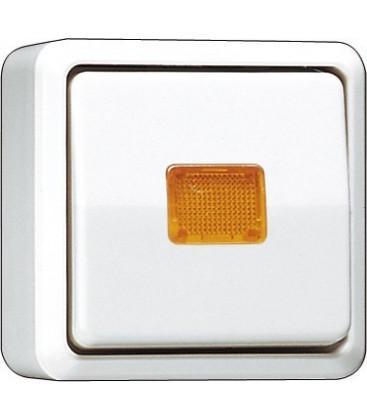Выключатель одноклавишный с подсветкой Jung AP600, белый