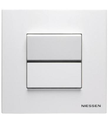 Выключатель в сборе ABB Niessen серии Zenit, белый