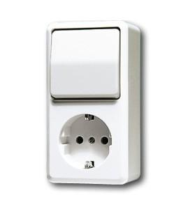 Выключатель и розетка Jung AP600, белый
