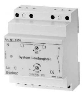 Системная силовая часть для системных датчиков движения, 1-канальная, REG Berker, светло-серый