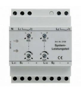 Системная силовая часть для системных датчиков движения, 2-канальная, REG Berker, цвет: светло-серый
