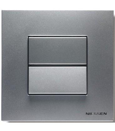 Выключатель в сборе ABB Niessen серии Zenit, серебристый