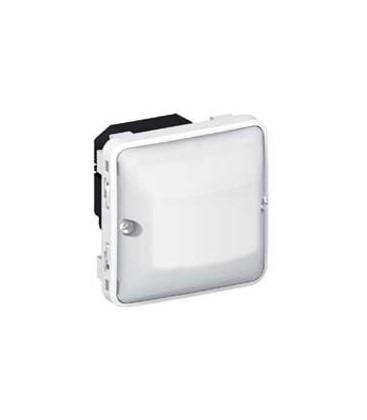 Датчик движения Legrand Plexo, IP55 2-проводной без нейтрали, с кнопками упр., белый/серый