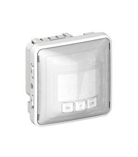 Датчик движения Legrand Plexo, IP55 3-проводной с нейтралью, белый/серый