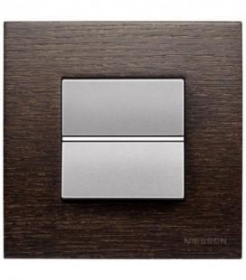 Выключатель в сборе ABB Niessen серии Zenit, венге/алюминий
