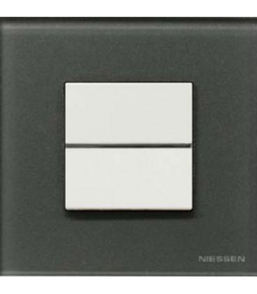 Выключатель в сборе ABB Niessen серии Zenit, стекло графит