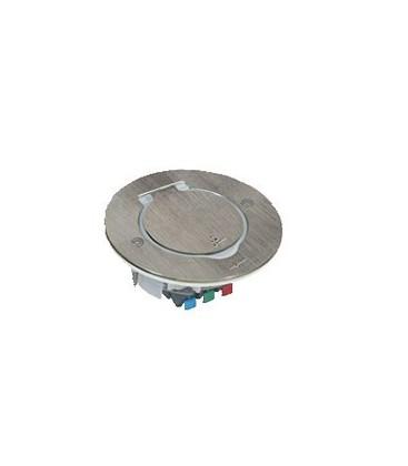 Круглый напольный лючок Legrand на 2 модуля IP44, нержавеющая сталь
