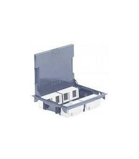 Напольный лючок Legrand на 12 модулей, регулируемая глубина 75-105мм, крышка из стали без углубления