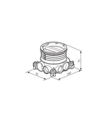Монтажная коробка для напольных люков Legrand, диаметр 50-80мм