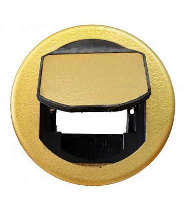 Напольный лючок Bticino на 2 модуля, диаметр 100 мм, латунь