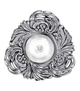 Треугольный точечный светильник из латуни, FEDE коллекция CHIANTI, блестящий хром