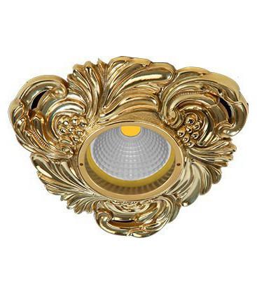 Треугольный точечный светильник из латуни, FEDE коллекция CHIANTI, блестящее золото
