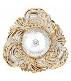 Треугольный точечный светильник из латуни, FEDE коллекция CHIANTI, золото с белой патиной
