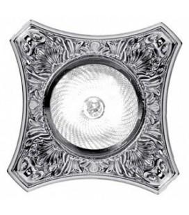 Круглый точечный светильник из латуни, FEDE коллекция PISA, блестящий хром
