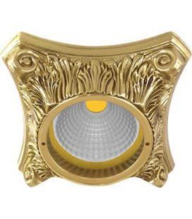 Круглый точечный светильник из латуни, FEDE коллекция PISA, блестящее золото