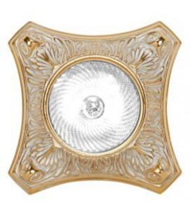 Круглый точечный светильник из латуни, FEDE коллекция PISA, золото с белой патиной
