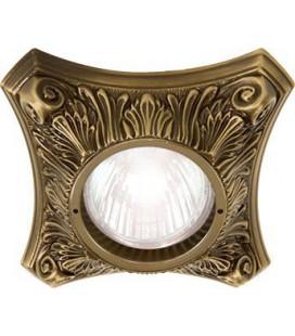 Круглый точечный светильник из латуни, FEDE коллекция PISA, патина