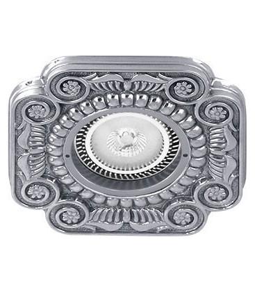Квадратный встраиваемый точечный светильник из латуни, FEDE коллекция FIRENZE, блестящий хром