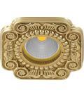 Квадратный встраиваемый точечный светильник из латуни, FEDE коллекция FIRENZE, блестящее золото