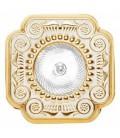 Квадратный встраиваемый точечный светильник из латуни, FEDE коллекция FIRENZE, золото с белой патиной